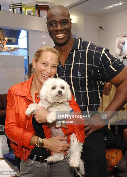 Lisa Pliner and Isaac C Singleton Jr during Donald Pliner Cure Autism Now Instore Event at Donald J Pliner in Los Angeles California United States