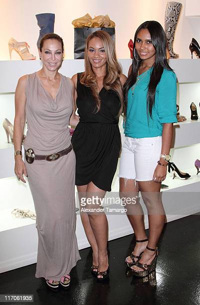 Lisa Pliner Evelyn Lozada and Shaniece Lozada are seen at Dulce Shoe Boutique on May 6 2010 in Coral Gables Florida