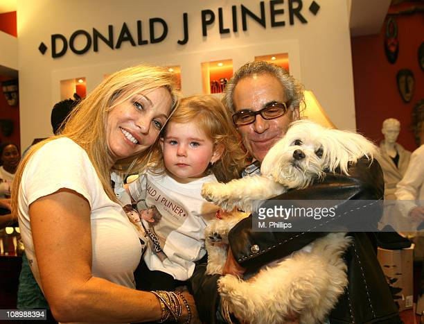 Lisa Pliner Star Pliner and Donald J Pliner during Donald J Pliner Instore To Benefit Cure Autism Now in Los Angeles California United States