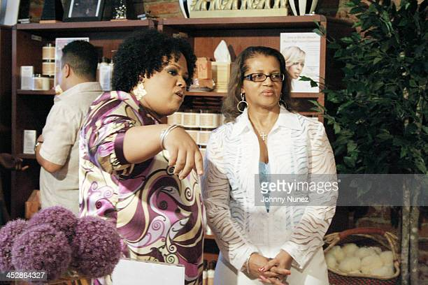 Lisa Price and Seletha Smith Nagin attend the charity shopping event at Carol's Daughter at the 2008 Essence Music Festival on July 3 2008 in New...