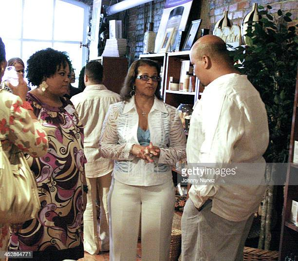 Lisa Price Seletha Smith Nagin and Gordon Price attend the charity shopping event at Carol's Daughter at the 2008 Essence Music Festival on July 3...