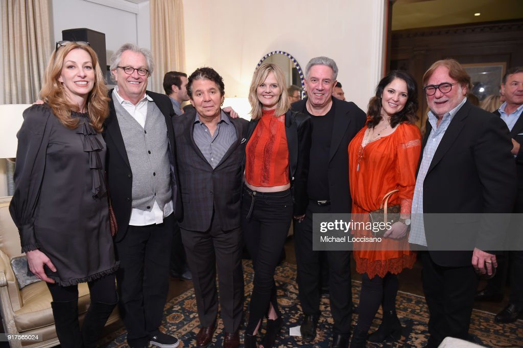 Lisa Purcell, Country Music Hall of Fame Museum CEO Kyle Young, Charles Carroll, Angie Gore, Vector Management Founder and Co-President Ken Levitan, guest and CAA Music Agent Rod Essig attend the Country Music Hall Of Fame And Museum Reception With Carly Pearce For All For The Hall New York on February 12, 2018 in New York City.
