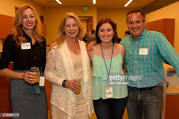 Lisa Purcell, Edie Emery, Katie Germano, and Pete Fisher attend the 23rd Annual CAA BBQ at Creative Artists Agency's Nashville office on June 8, 2015...