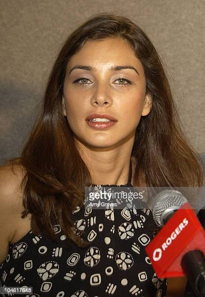 Lisa Ray during 2002 Toronto Film Festival Bollywood/Hollywood Press Conference at Four Seasons Hotel in Toronto Ontario Canada