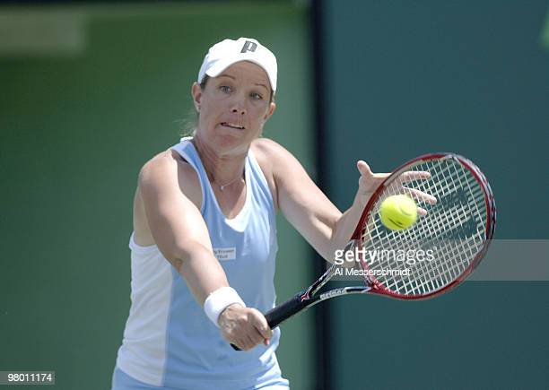 Lisa Raymond in women's doubles semi-final at the 2006 NASDAQ 100 Open at Key Biscayne, Florida. Ramond and Samantha Stosur defeated Amelie Mauresmo...
