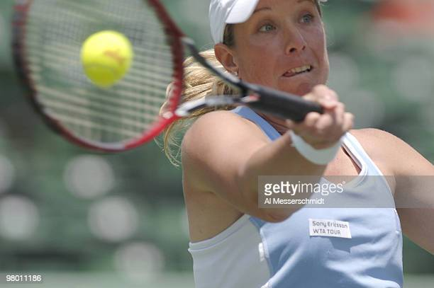 Lisa Raymond in women's doubles semifinal at the 2006 NASDAQ 100 Open at Key Biscayne Florida Ramond and Samantha Stosur defeated Amelie Mauresmo and...