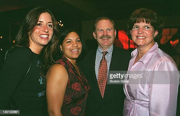 Lisa Riguez of Creamer Production, Kim Lewis of Dorchester, and Dwight and Maureen Pererson of Milton attend a party after the special screening of...