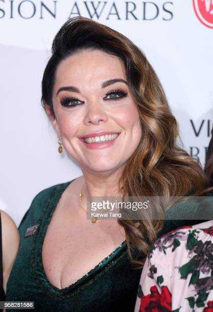 Lisa Riley poses in the press room during the Virgin TV British Academy Television Awards at The Royal Festival Hall on May 13 2018 in London England