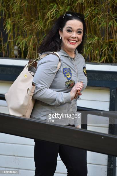Lisa Riley seen at the ITV Studios on April 18 2017 in London England