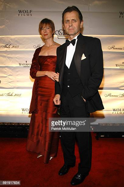 Lisa Rinehart and Mikhail Baryshnikov attend The 2005 Princess Grace Awards Gala at Cipriani 42nd Street on October 26 2005 in New York City