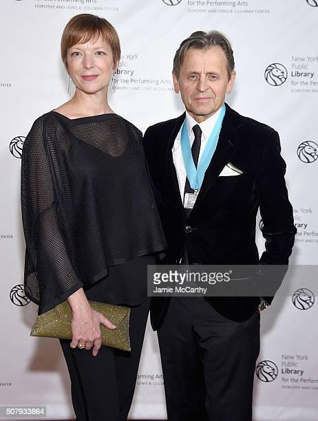 Lisa Rinehart and Mikhail Baryshnikov attend The New York Public Library For The Performing Arts' 50th Anniversary Gala at The New York Public...