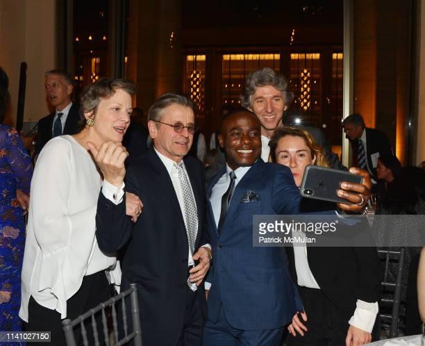 Lisa Rinehart Mikhail Baryshnikov Anthony McGill Damian Woetzel and Caroline Shaw take a selfie at Juilliard Spring 2019 Gala at Peter Jay Sharp...