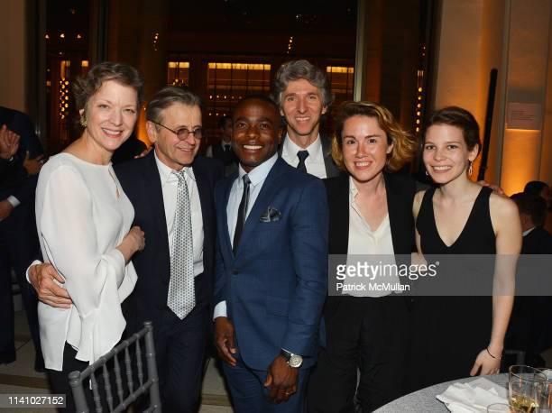 Lisa Rinehart Mikhail Baryshnikov Anthony McGill Damian Woetzel Caroline Shaw and Alyssa KayserHirsh attend Juilliard Spring 2019 Gala at Peter Jay...