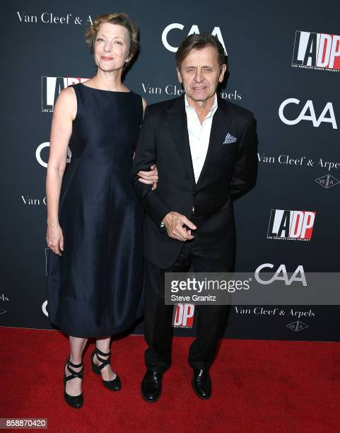Lisa Rinehart Mikhail Baryshnikov arrives at the LA Dance Project's Annual Gala at LA Dance Project on October 7 2017 in Los Angeles California