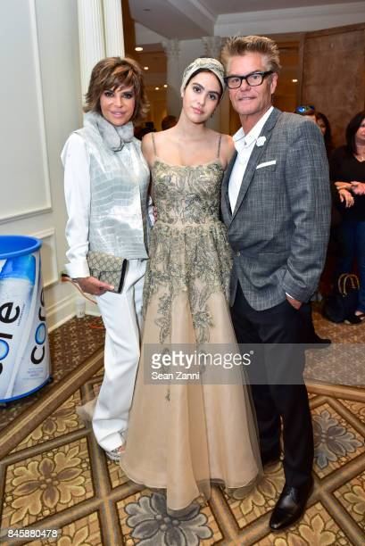Lisa Rinna Amelia Gray Hamlin and Harry Hamlin attend the Dennis Basso Spring/Summer 2018 Runway Show during New York Fashion Week at The Plaza Hotel...