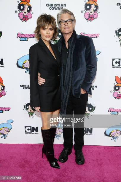 Lisa Rinna and Harry Hamlin attend the 2020 Christian Cowan x Powerpuff Girls Runway Show on March 08, 2020 in Hollywood, California.
