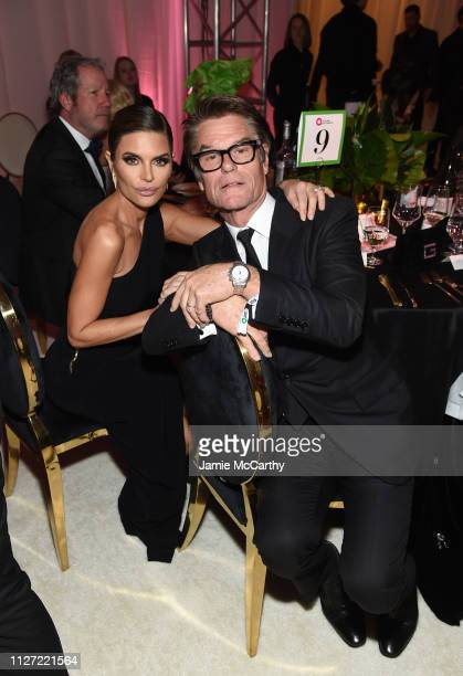 Lisa Rinna and Harry Hamlin attend the 27th annual Elton John AIDS Foundation Academy Awards Viewing Party sponsored by IMDb and Neuro Drinks...