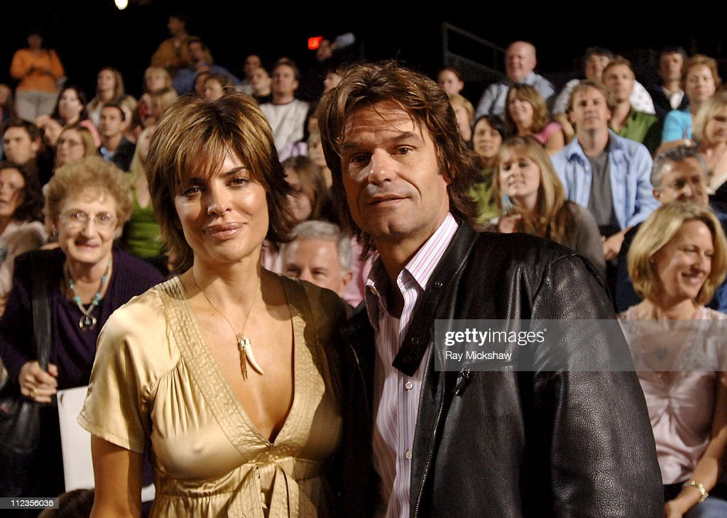 Lisa Rinna and Harry Hamlin during 'American Idol' Season 4 - Performance Show - May 10, 2005 at American Idol Studios in Los Angeles, California, United States.