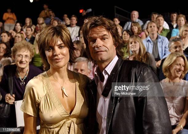 Lisa Rinna and Harry Hamlin during 'American Idol' Season 4 Performance Show May 10 2005 at American Idol Studios in Los Angeles California United...