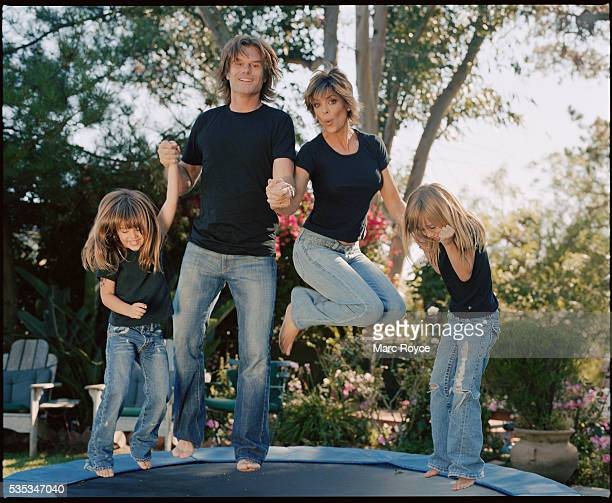 Lisa Rinna and Harry Hamlin with their daughters Delilah Belle and Amelia Gray