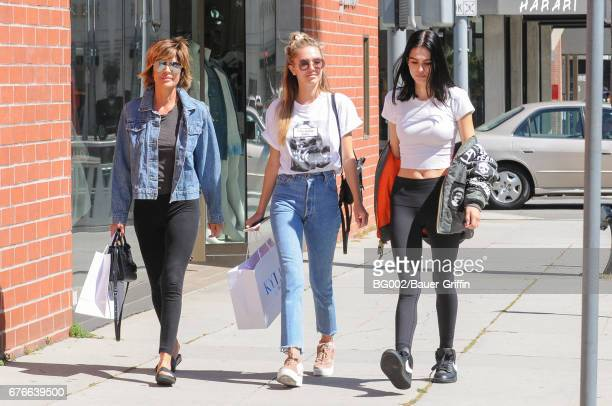 Lisa Rinna and her daughters Amelia Gray Hamlin and Delilah Belle Hamlin are seen on May 02 2017 in Los Angeles California