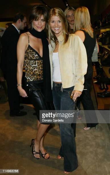Lisa Rinna and Lori Loughlin during Bottega Veneta Benefit For PSArts And Moca's Apprentice Program at Bottega Veneta Store in Beverly Hills...