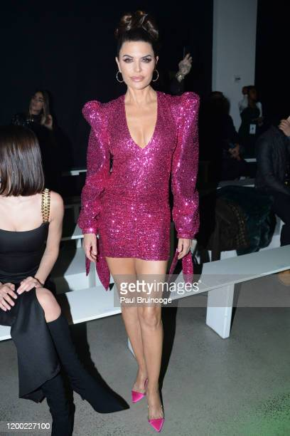 Lisa Rinna attends Christian Cowan AW/20 Fashion Show on February 11, 2020 at Spring Studios in New York City.