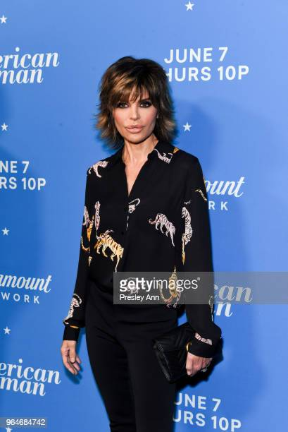 Lisa Rinna attends Premiere Of Paramount Network's 'American Woman' Arrivals at Chateau Marmont on May 31 2018 in Los Angeles California