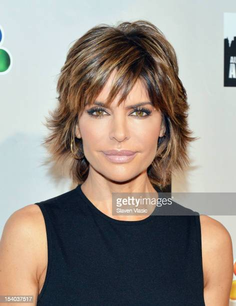 Lisa Rinna attends the 'Celebrity Apprentice All Stars' Season 13 Press Conference at Jack Studios on October 12 2012 in New York City