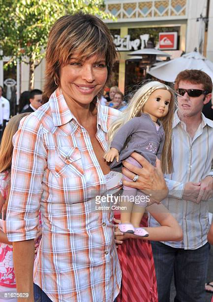 Lisa Rinna attends the premiere of Kit Kittredge An American Girl at The Grove on June 14 2008 in Los Angeles California