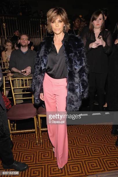 Lisa Rinna attends the Sherri Hill NYFW Fall 2017 Runway Show during New York Fashion Week at Gotham Hall on February 13 2017 in New York City