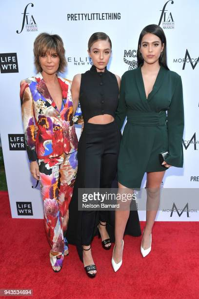 Lisa Rinna Delilah Belle Hamlin and Amelia Gray Hamlin attend The Daily Front Row's 4th Annual Fashion Los Angeles Awards at Beverly Hills Hotel on...