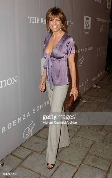 Lisa Rinna during Barneys New York Hosts Proenza Schouler Fashion Show to Benefit the Rape Foundation CoSponsered by HewlettPackard Red Carpet at...