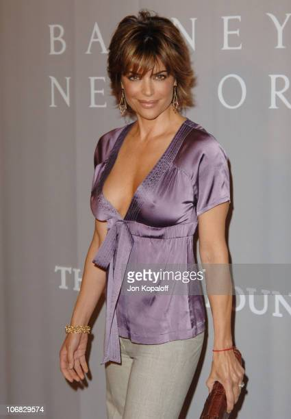 Lisa Rinna during Barneys New York Hosts Proenza Schouler Fashion Show to Benefit the Rape Foundation CoSponsored by HewlettPackard Arrivals at...