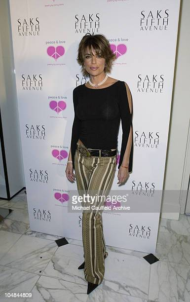 Lisa Rinna during Peace and Love Jewelry by Nancy Davis Launch Party at Saks Fifth Avenue in Beverly Hills California United States