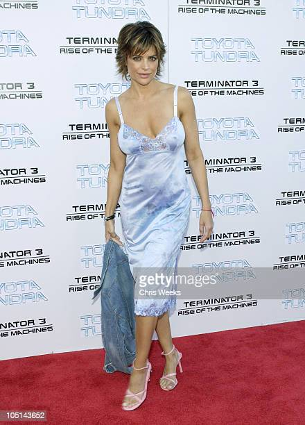 Lisa Rinna during 'Terminator 3 Rise of the Machines' World Premiere at Mann Bruin in Los Angeles California United States