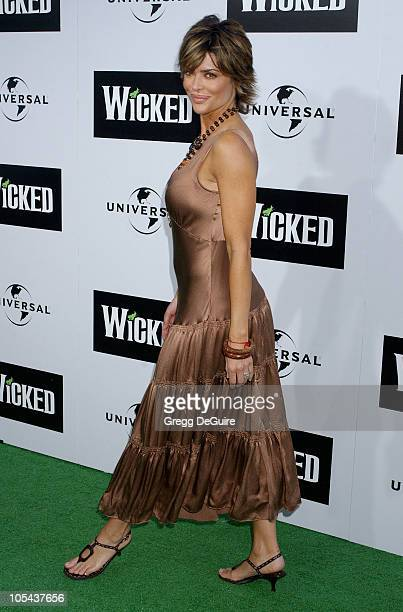 Lisa Rinna during Wicked Los Angeles Opening Night Arrivals at The Pantages Theatres in Los Angeles California United States
