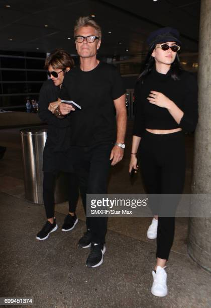 Lisa Rinna Harry Hamlin and Amelia Gray Hamlin are seen on June 21 2017 in Los Angeles California