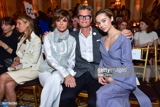 Lisa Rinna Harry Hamlin and Delilah Belle Hamlin attend the Dennis Basso Spring/Summer 2018 Runway Show during New York Fashion Week at The Plaza...