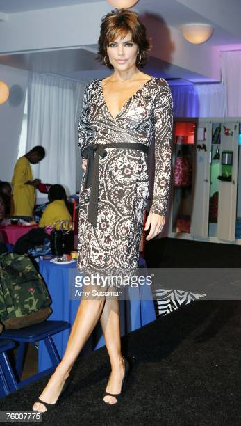 Lisa Rinna hosts the first ever school supply fashion show by Staples at the Helen Mills Studio on August 7 2007 in New York City