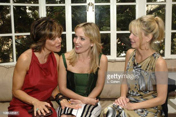 Lisa Rinna in Moschino, Brooke Davenport and Heather Locklear in Moschino