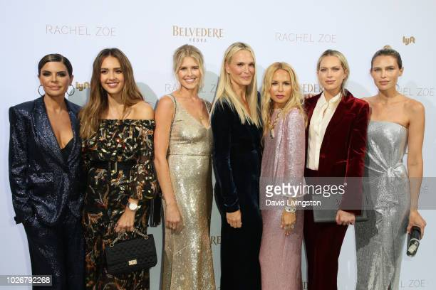 Lisa Rinna Jessica Alba Sarah Wright Olsen Molly Sims Rachel Zoe Erin Foster and Sara Foster attend the Rachel Zoe Spring 2019 LA Presentation at...