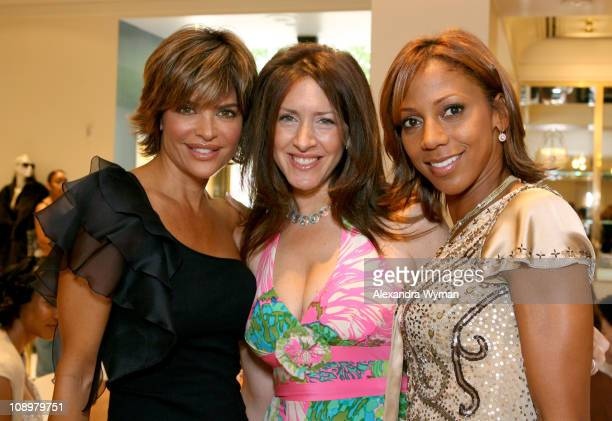 Lisa Rinna Joely Fisher and Holly Robinson Peete during ESCADA HollyRod at Escada Boutique in Los Angeles California United States