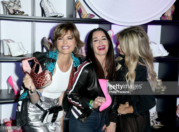 Lisa Rinna Kyle Richards AND Teddi Mellencamp attend the Erika Jayne x ShoeDazzle x Nylon Coachella Midnight Party at a private residence on April 12...