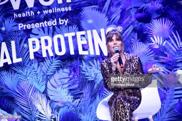 Lisa Rinna speaks onstage during Beautycon Festival Los Angeles 2019 at Los Angeles Convention Center on August 10 2019 in Los Angeles California