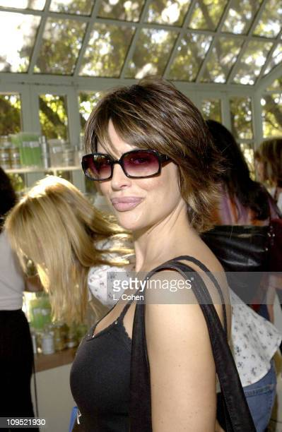 c6ae4f806b2 Lisa Rinna visits Kenneth Cole sunglasses at the Cabana Beauty Buffet  presented with Allure magazine