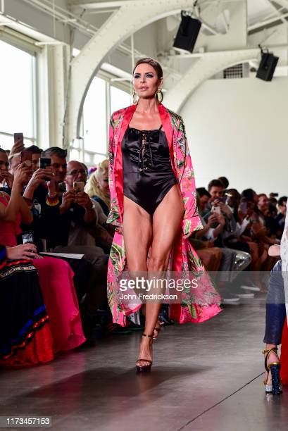 Lisa Rinna walks the runway at the Kyle X Shahida Fashion Show at Pier 59 Studios on September 08, 2019 in New York City.