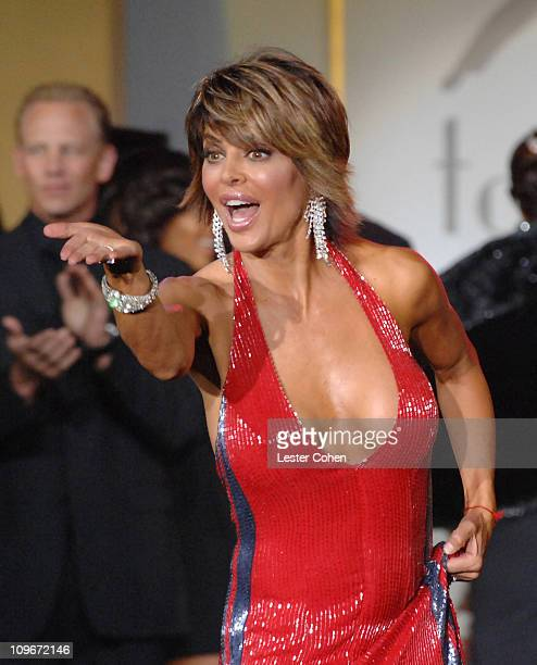 Lisa Rinna wearing Tommy Hilfiger during 14th Annual Race to Erase MS Themed 'Dance to Erase MS' Show at Hyatt Regency Century Plaza in Century City...