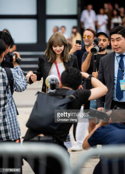 LiSA/ Risa Oribe is seen outside Celine during Paris Fashion Week Menswear Spring/Summer 2020 on June 23 2019 in Paris France