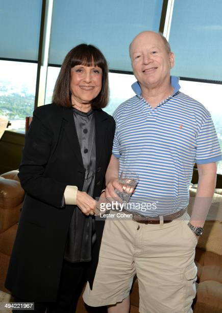 Lisa Robinson and author Bob Lefsetz attend the Shelli And Irving Azoff Ronald Perelman Party to celebrate the publication of Lisa Robinson's book...